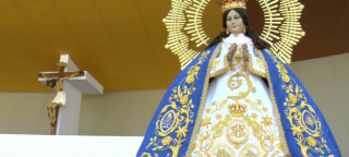Guadelupe statue Chiapas mass