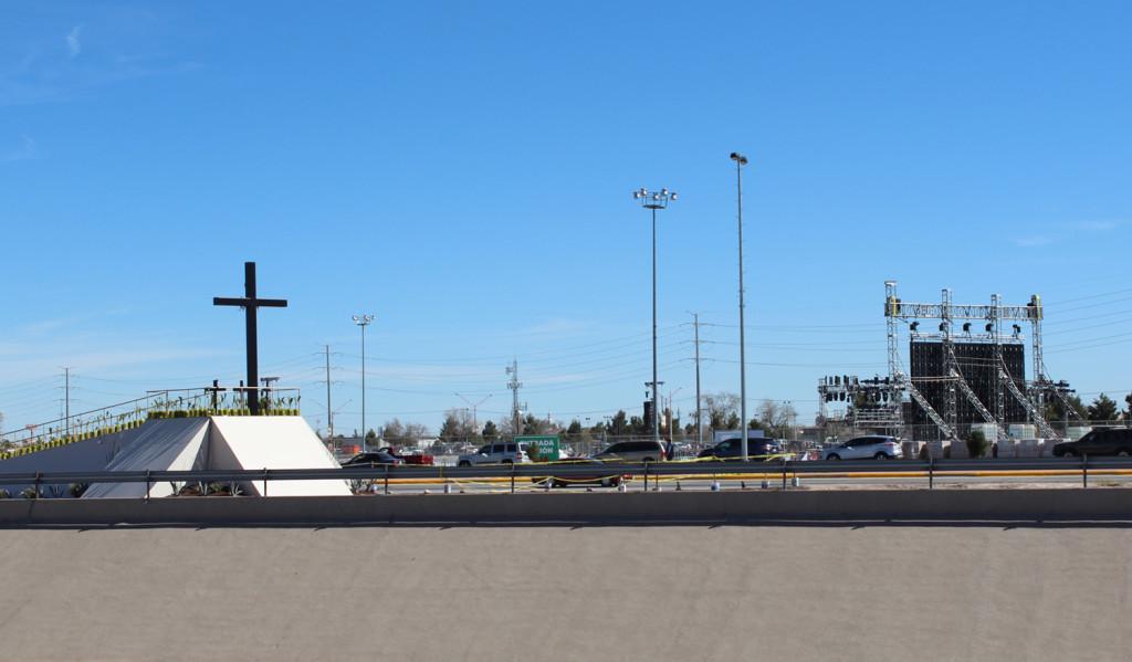 El lugar donde Su Santidad oró por migrantes y victimas de violencia un día antes de la misa culminante en Ciudad Juárez