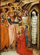 Resurrección de Lázaro, Luca di Tomme, anterior a 1362. Wikicommons