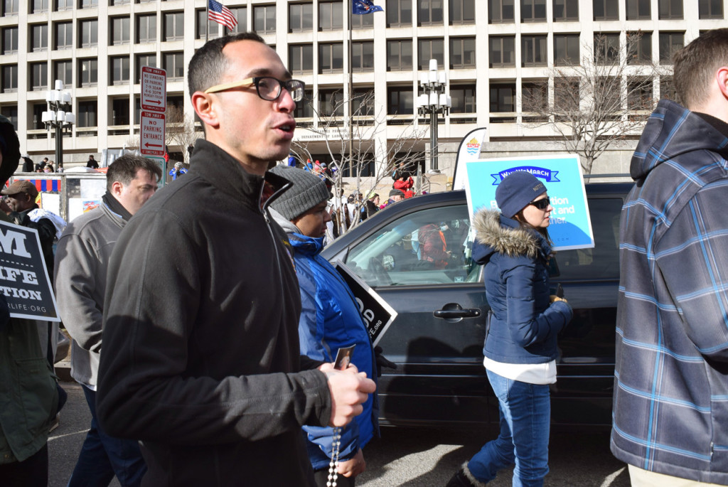 Reciting Divine Mercy_Cathedral Seminary_Diocese of Brooklyn_March for Life 20178