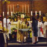 Vigilia Pascual en la noche del Sábado Santo en la parroquia del Santo Niño Jesús en Richmond Hill, Queens.  Foto: Jorge I. Domínguez-López
