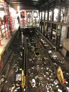"""""""Valía la pena probar el experimento"""", dijo en un comunicado de prensa Beth DeFalco, vocera de la MTA. Sin embargo, admitió que """"no era la forma más eficiente para limpiar las estaciones""""."""