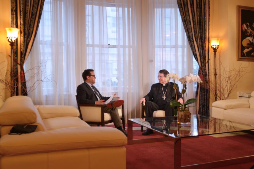 Una conversación con el representante del Papa