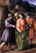 José vendido por sus hermanos, óleo sobre madera. Francesco Bacchiacca. 1515–1516