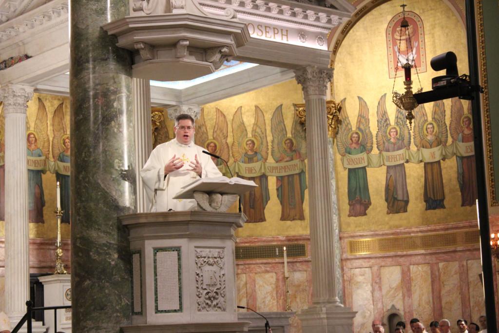 Keating preaches