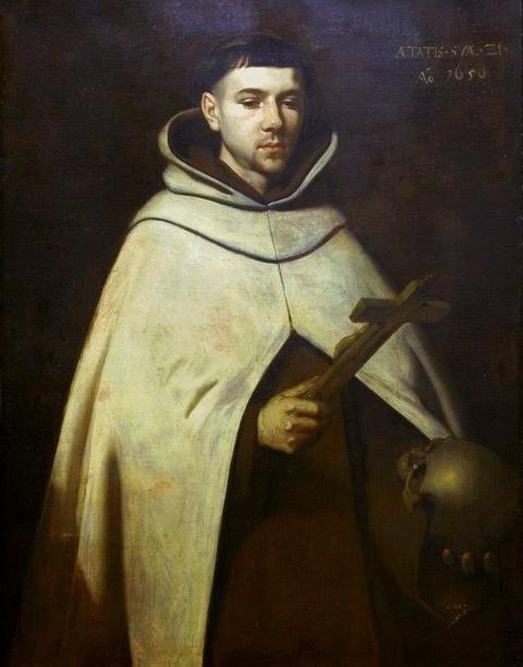 San Juan de la Cruz, óleo sobre tela. Francisco de Zurbarán. 1656 Muzeum Archidiecezjalne w Katowicach.