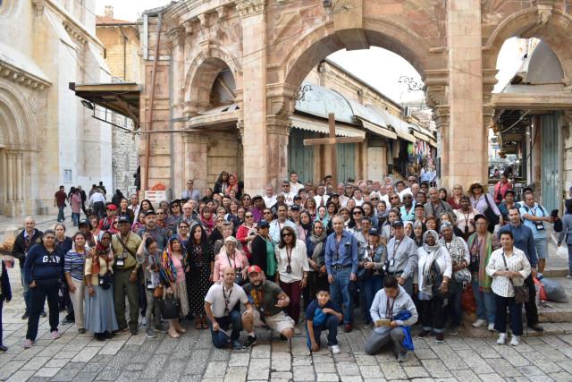 En la peregrinación a Tierra Santa organizada para celebrar el 40 aniversario de la ordenación del diácono Ramón Lima participaron 12 diáconos permanentes y 148 laicos.