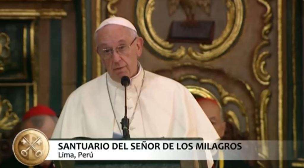 Video: Homilía del Papa en el Santuario del Señor de los Milagros