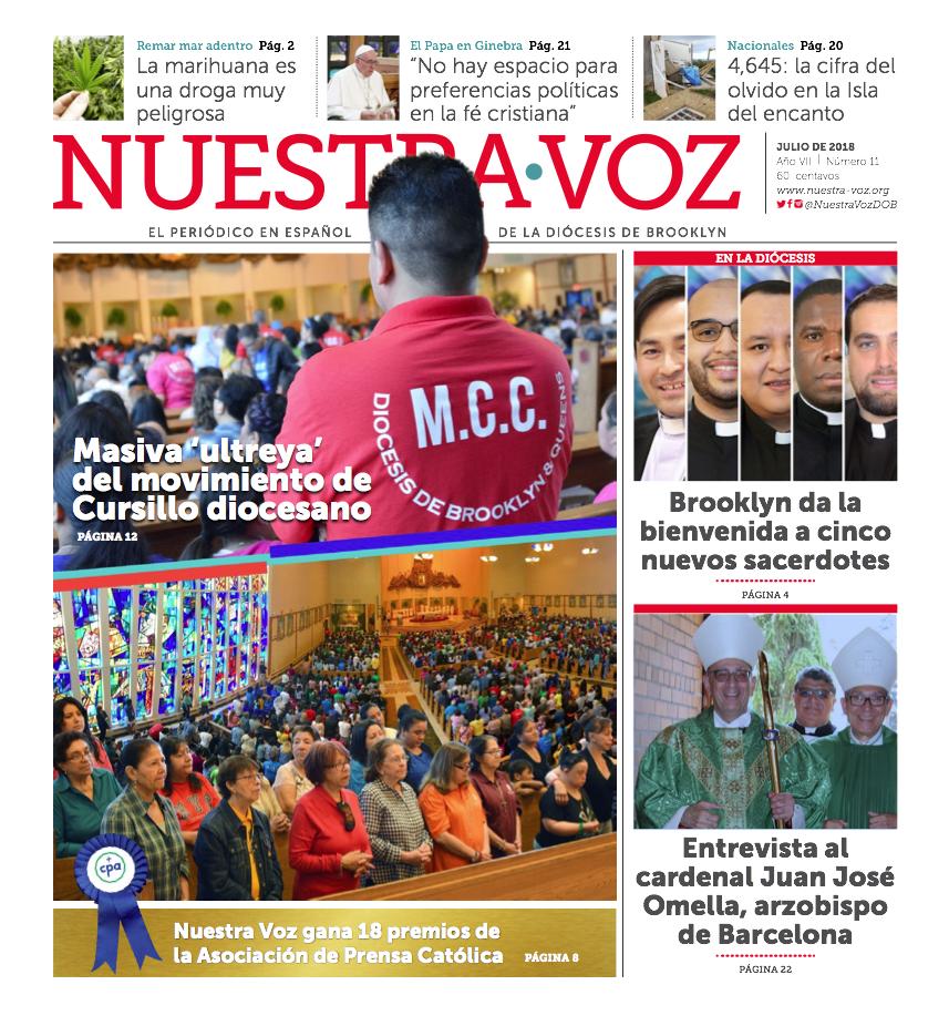 Portada Nuestra Voz Julio 2018
