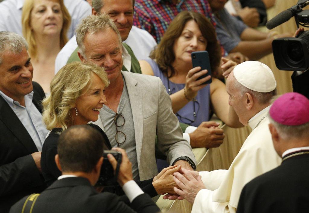 Sting: ¡El Papa Francisco es una estrella de rock!