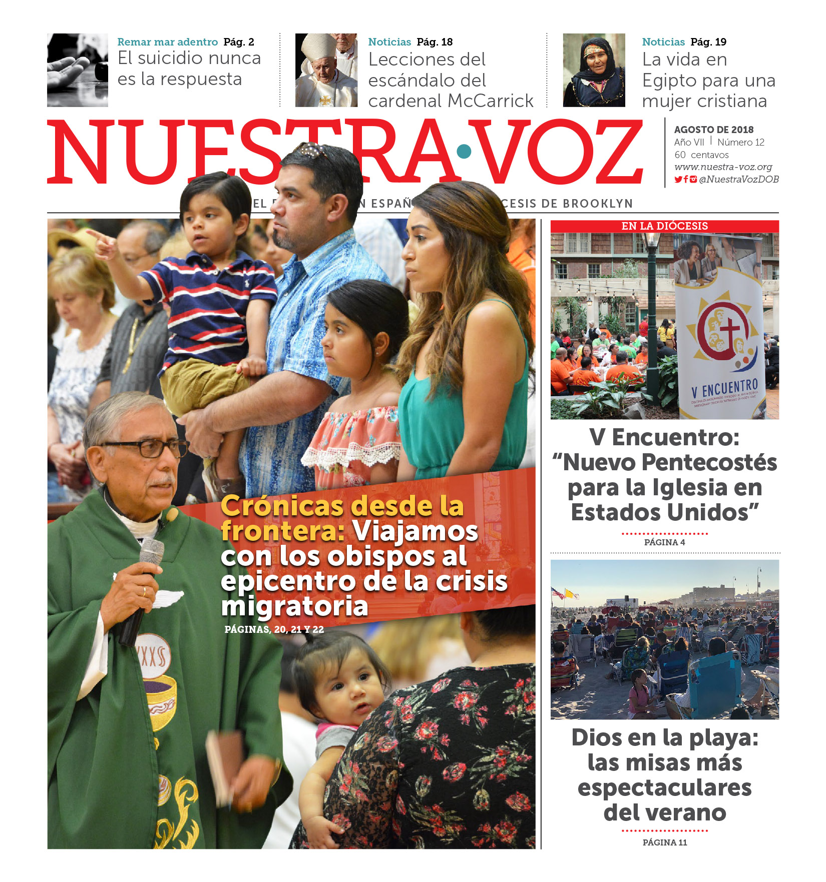 Portada Nuestra Voz Agosto 2018