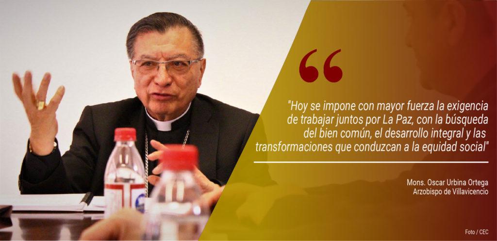 Obispos colombianos insisten en mantener compromiso de paz