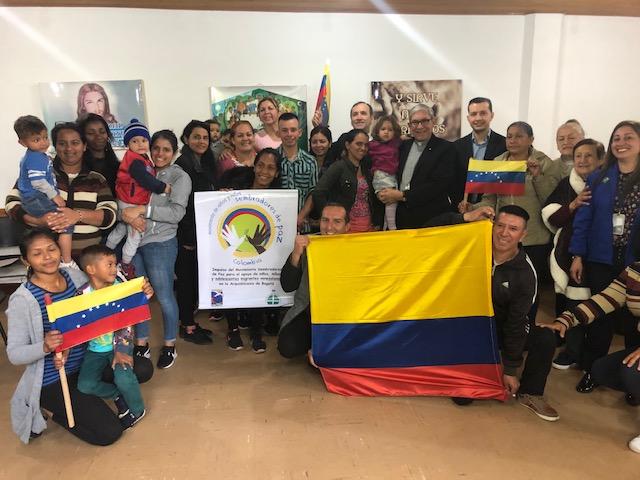 Mons. Cisneros lidera ayuda humanitaria de la USCCB a refugiados venezolanos en Colombia