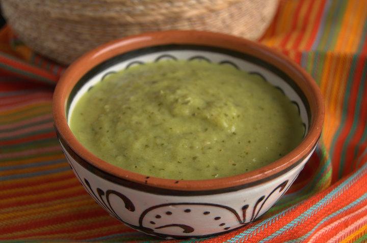La auténtica salsa verde mexicana